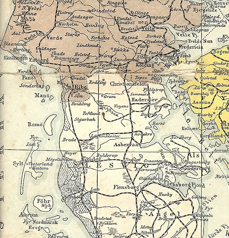 The 1864 border as it was i 1908