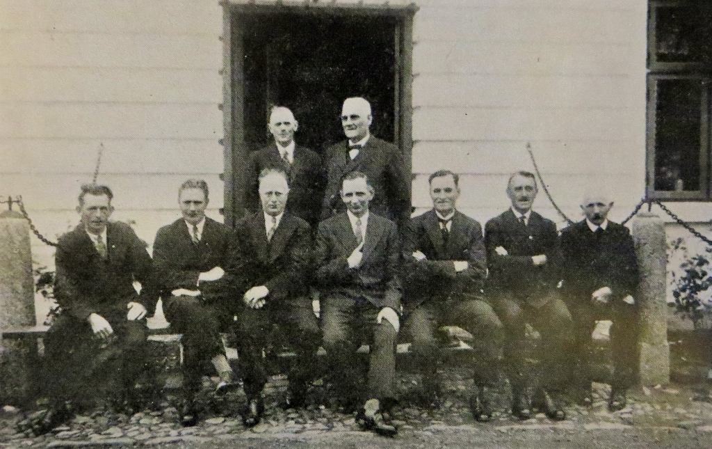 Management and workers at the fish farm and electricity plant in 1934.