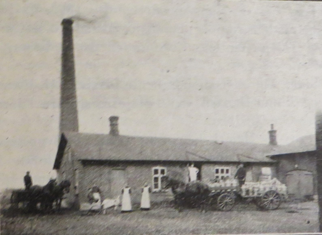 Die Molkerei Gredsted existierte bis 1909.