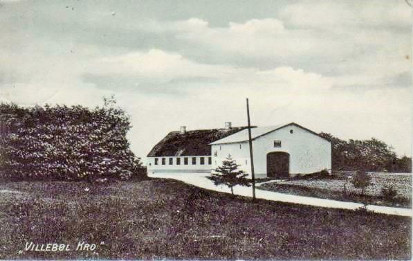 Villebøl Kro 1916. Foto: Postkarte von 1916