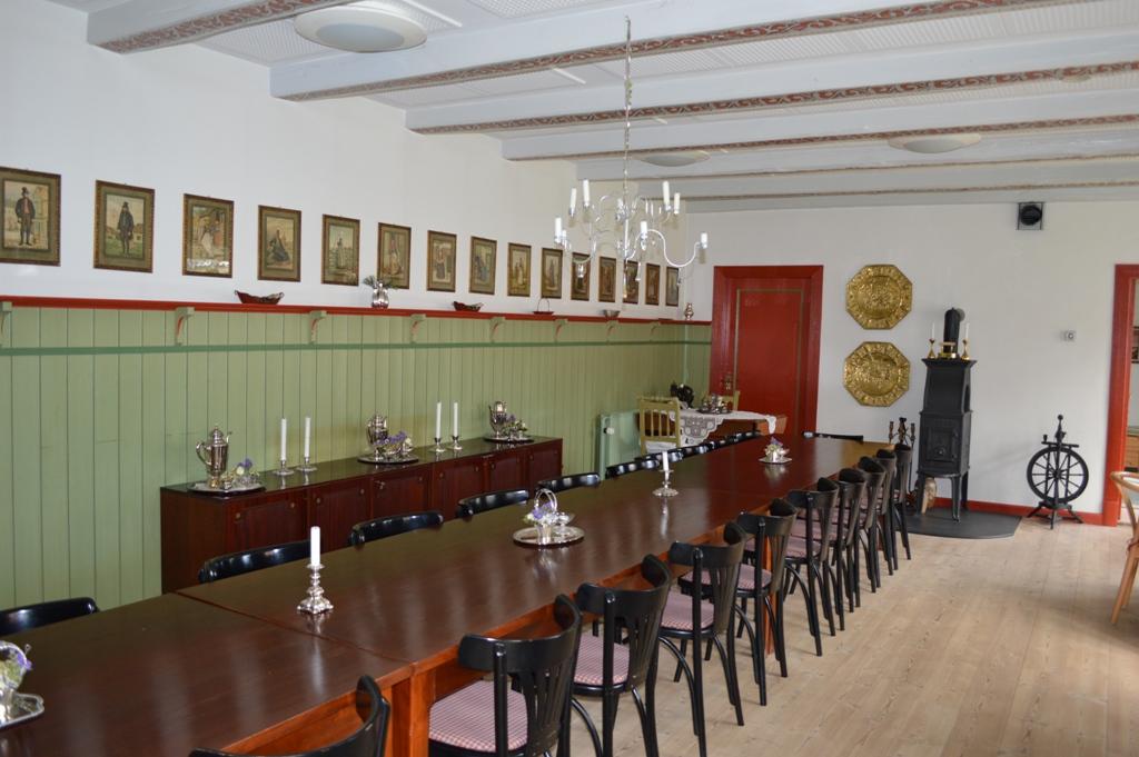 Den historiske sal på Bennetgård.