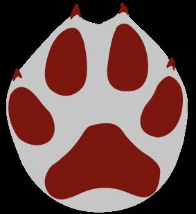 Ulvespor er meget svære at skelne fra hundespor. Afstanden mellem de to midterste tæer er lidt større hos ulven, og kløerne er mere tydelige. Forpotens spor er ca. 11 cm langt og 10 cm bredt. Bagpotens spor er mindre ca. 8 cm langt og 7 cm bredt.